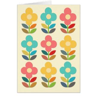 Troncos del estilo y floral nórdicos tarjeta de felicitación