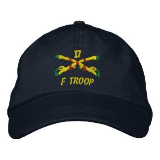 Tropa de F, gorra bordado 17ma caballería