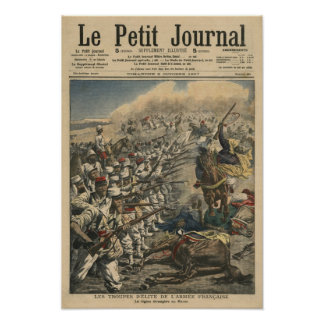Tropas del ejército francés, franceses de la élite impresiones