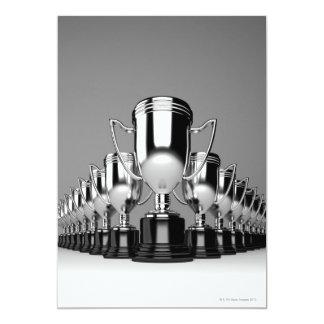Trophys de plata 2 invitación 12,7 x 17,8 cm