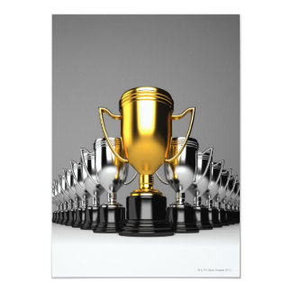 Trophys de plata 3 invitación 12,7 x 17,8 cm