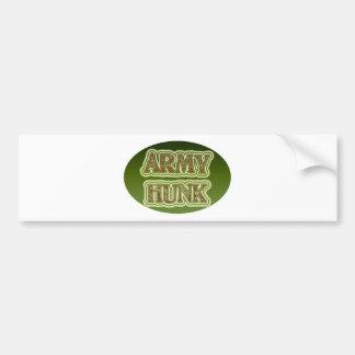Trozo del ejército pegatina para coche