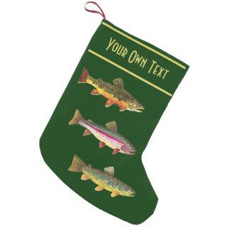 Trucha 3 para los pescadores y los Fisherwomen de Calcetín De Navidad Pequeño