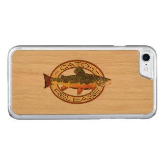 Trucha de arroyo que pesca C y R Funda Para iPhone 8/7 De Carved