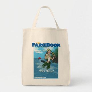 Trucha myFarcebook.com de Brooke que pesca la guía Bolsa Tela Para La Compra