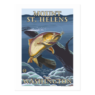 Trucha que pesca la sección representativa - St He Postales
