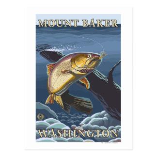 Trucha que pesca la sección representativa - postal