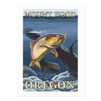Trucha que pesca la sección representativa - tarjeta postal