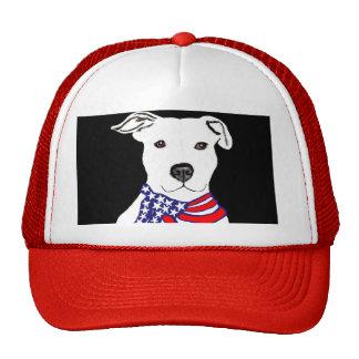 truckercap de Americanflag del pitbull Gorras