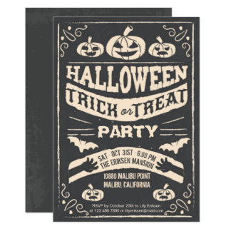 Truco de Halloween o invitación espeluznante del