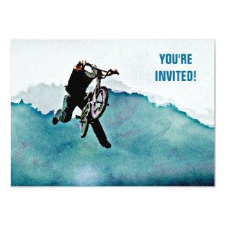 Truco de la bicicleta del estilo libre BMX Invitación 11,4 X 15,8 Cm