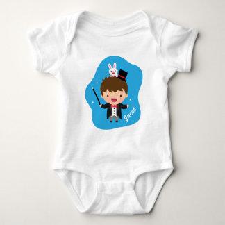 Truco mágico del conejito del muchacho del mago body para bebé