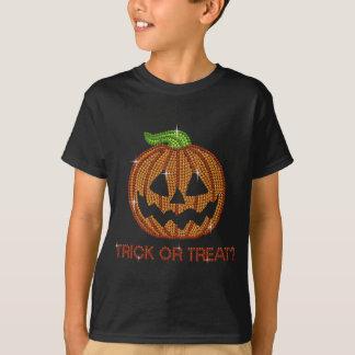 Truco o invitación impreso de la calabaza del camiseta
