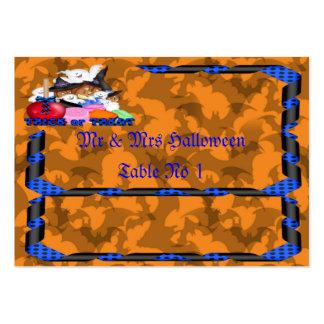 Truco o tarjeta de la colocación del fantasma y de tarjetas de visita