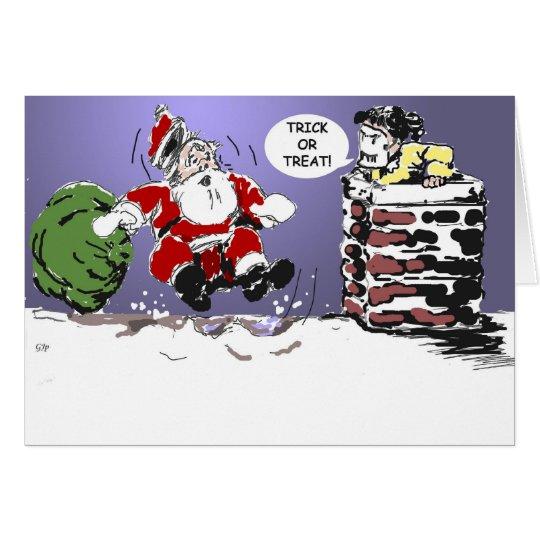 Truco o tarjeta de Navidad de la invitación