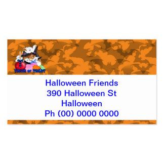 Truco o tarjeta de visita del fantasma y de las ca
