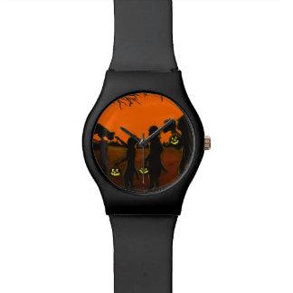 Truco o treater, feliz Halloween de Halloween Relojes De Pulsera