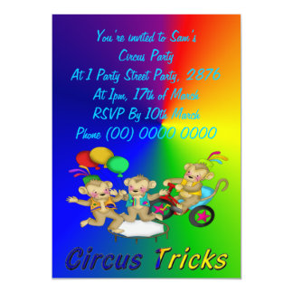Trucos del circo invitacion personalizada