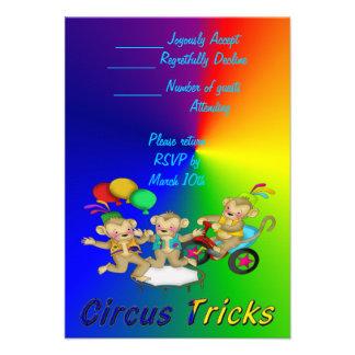 Trucos del circo comunicados personalizados