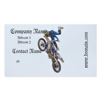 Trucos del extremo del motocrós tarjetas de visita