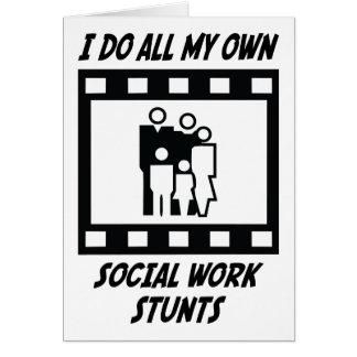 Trucos del trabajo social tarjeta de felicitación