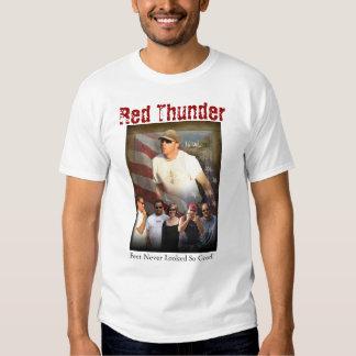 Trueno rojo camiseta