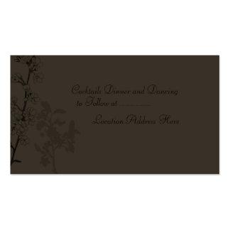 Trufa (tarjeta de la recepción) plantillas de tarjetas de visita