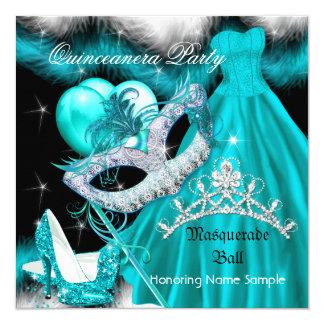 Trullo 3 de la fiesta de cumpleaños de Quinceanera Invitación 13,3 Cm X 13,3cm