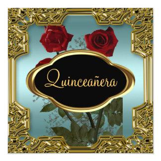 Trullo 5 de la fiesta de cumpleaños de Quinceanera Invitación 13,3 Cm X 13,3cm