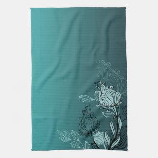 Trullo abstracto moderno floral toalla