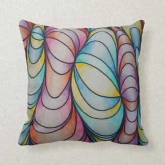 Trullo abstracto y almohada enrrollada púrpura de