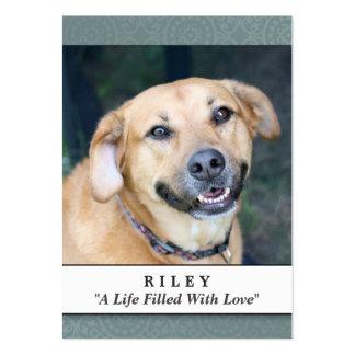 Trullo conmemorativo de la tarjeta del perro - no tarjetas de visita grandes