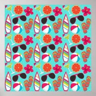 Trullo de la pelota de playa de las gafas de sol d posters
