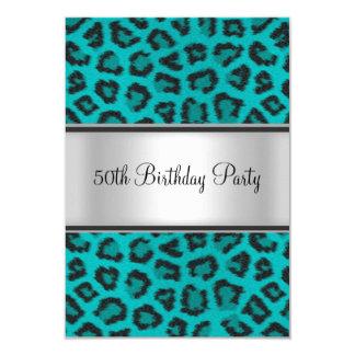 Trullo de la piel del leopardo de la fiesta de invitación 8,9 x 12,7 cm