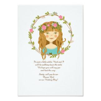 Trullo de la tarjeta de la petición del florista invitación 12,7 x 17,8 cm