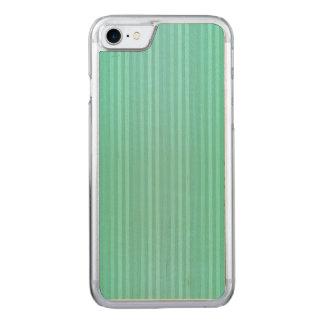 Trullo del Aquamarine y modelo verde de las rayas Funda Para iPhone 8/7 De Carved