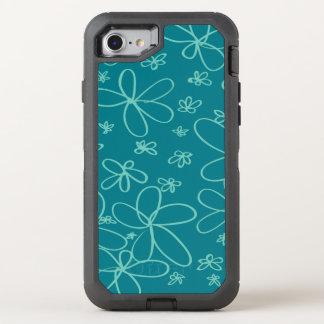 Trullo del Doodle de la flor Funda OtterBox Defender Para iPhone 8/7