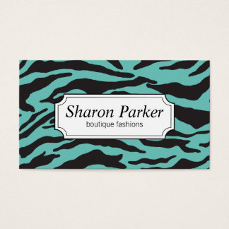 Trullo del estampado de zebra el | tarjeta de visita