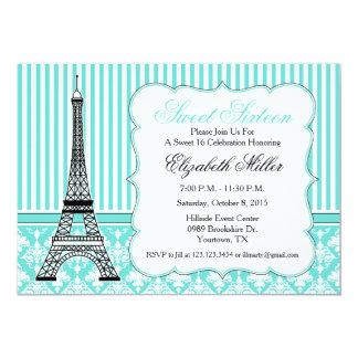 Trullo del fiesta del tema de la torre Eiffel de Invitación 12,7 X 17,8 Cm