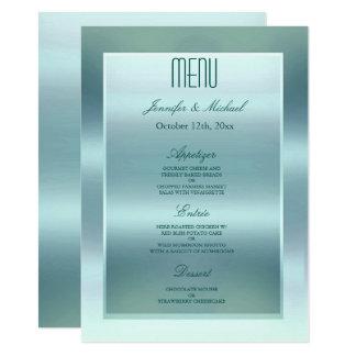Trullo del satén del menú el | de la cena invitación 11,4 x 15,8 cm