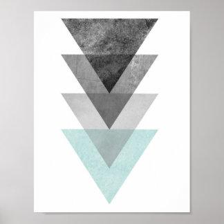 Trullo e impresión geométrica del triángulo gris