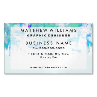 Trullo en colores pastel femenino y goteos azules tarjetas de visita magnéticas (paquete de 25)