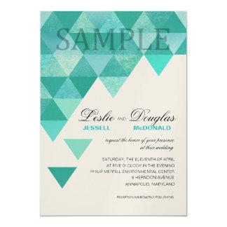 Trullo geométrico de los triángulos del reflejo invitación 12,7 x 17,8 cm