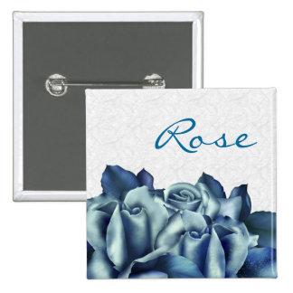 Trullo helado y rosa de invierno azul pin