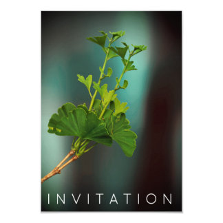 Trullo orgánico del verdor de la cena del cocinero invitación 8,9 x 12,7 cm