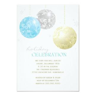Trullo, plata, fiesta de la celebración del día de invitación 12,7 x 17,8 cm