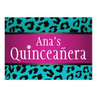 trullo Quinceanera del leopardo del inconformista Invitación 12,7 X 17,8 Cm
