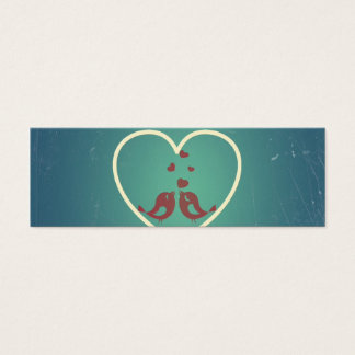 Trullo retro BlueTurquoise de los corazones de los Tarjeta De Visita Mini