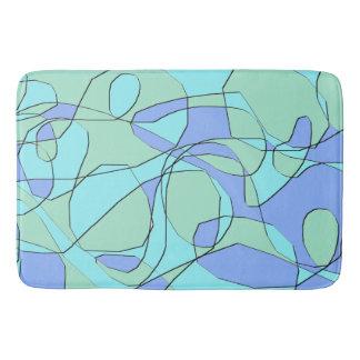 Trullo y estera de baño moderna abstracta azul
