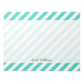 Trullo y modelo diagonal blanco de las rayas bloc de notas